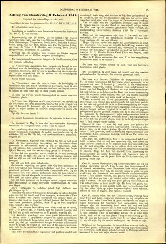 Handelingen van de Raad 1911-02-09