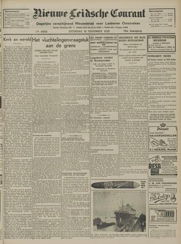 Nieuwe Leidsche Courant 1938-11-19