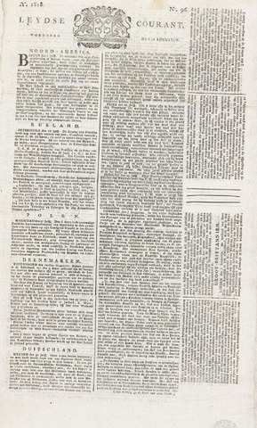 Leydse Courant 1818-08-12