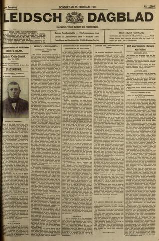 Leidsch Dagblad 1932-02-25
