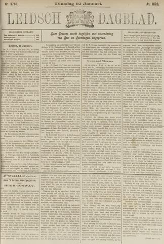 Leidsch Dagblad 1892-01-12