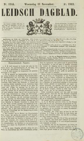Leidsch Dagblad 1863-11-11
