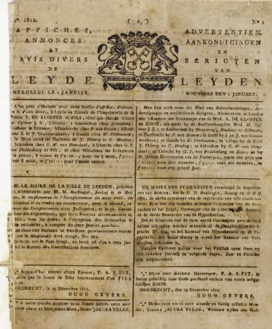 Leydse Courant 1812-01-01