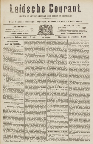 Leydse Courant 1887-02-21