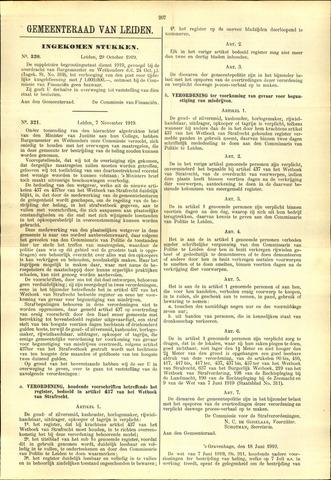 Handelingen van de Raad 1919-10-29
