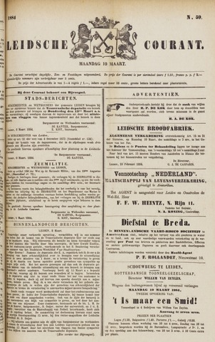 Leydse Courant 1884-03-10