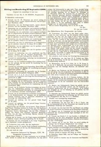 Handelingen van de Raad 1906-09-27