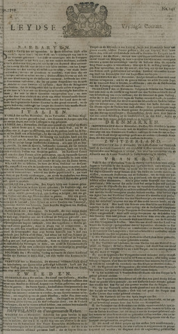 Leydse Courant 1729-11-25