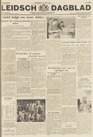 Leidsch Dagblad 1954-06-10