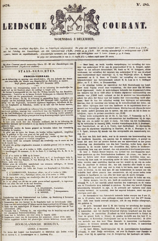 Leydse Courant 1879-12-03