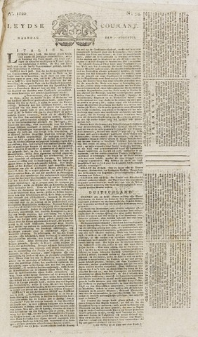Leydse Courant 1820-08-07