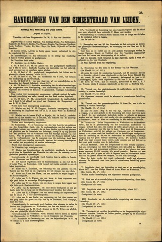 Handelingen van de Raad 1872-06-24
