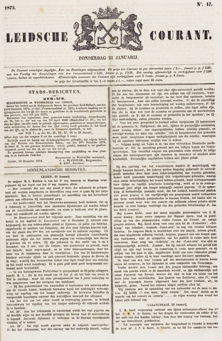 Leydse Courant 1875-01-21