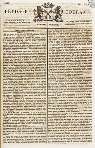 Leydse Courant 1860-10-01