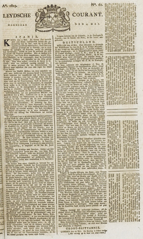 Leydse Courant 1825-05-25