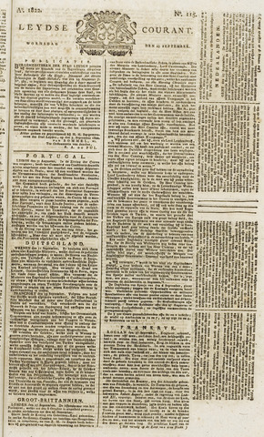 Leydse Courant 1822-09-25