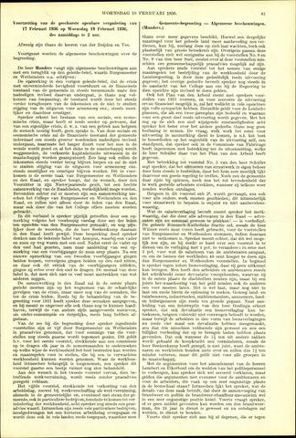 Handelingen van de Raad 1936-02-19