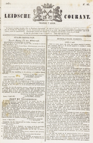 Leydse Courant 1871-04-07