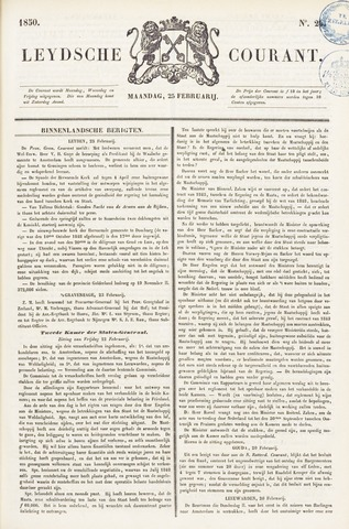Leydse Courant 1850-02-25