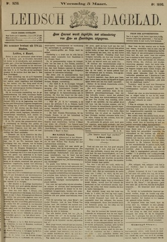 Leidsch Dagblad 1890-03-05