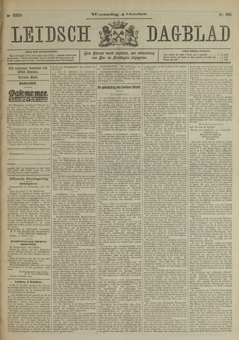 Leidsch Dagblad 1911-10-04