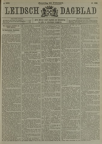Leidsch Dagblad 1909-02-20