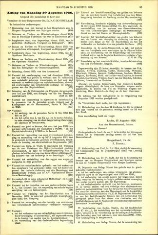 Handelingen van de Raad 1926-08-30