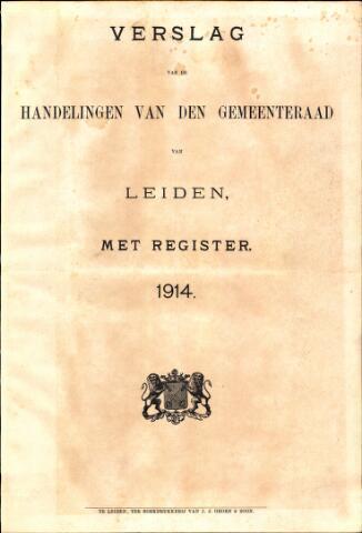 Handelingen van de Raad 1914-01-01