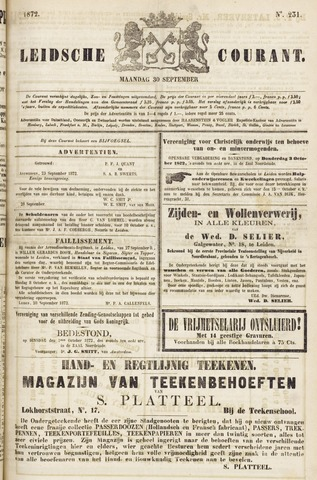 Leydse Courant 1872-09-30