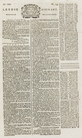 Leydse Courant 1820-11-29