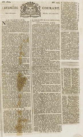 Leydse Courant 1825-10-03