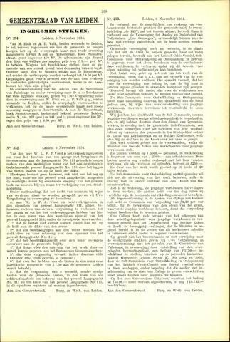 Handelingen van de Raad 1934-11-06