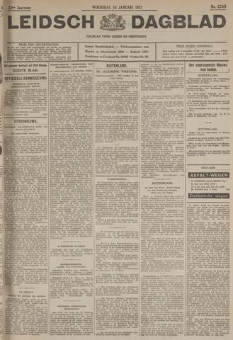 Leidsch Dagblad 1933-01-18
