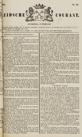 Leydse Courant 1885-02-19