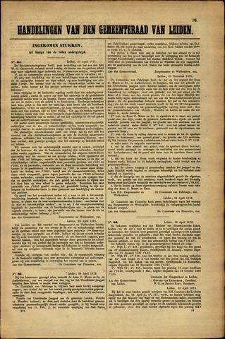 Handelingen van de Raad 1872-04-29