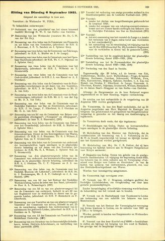 Handelingen van de Raad 1921-09-06