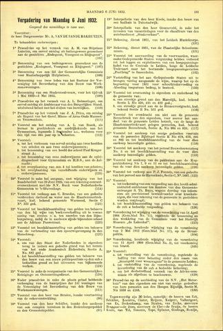 Handelingen van de Raad 1932-06-06