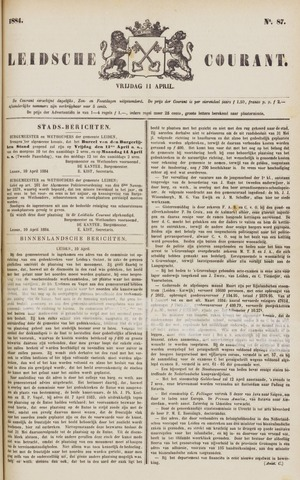 Leydse Courant 1884-04-11