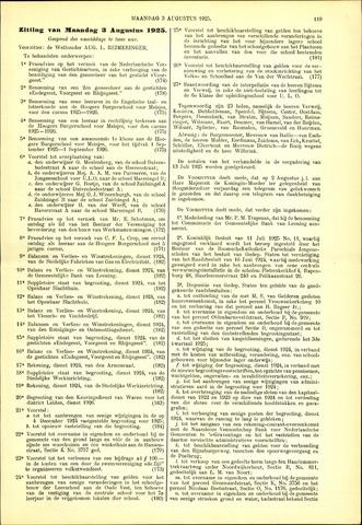 Handelingen van de Raad 1925-08-03