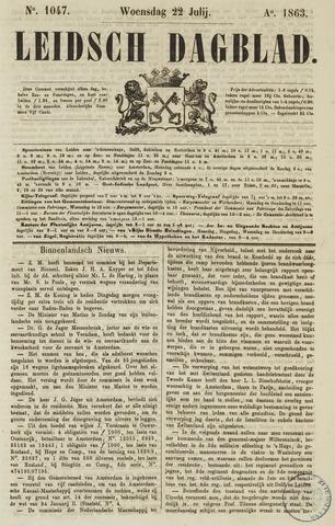 Leidsch Dagblad 1863-07-22