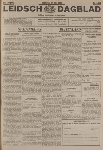 Leidsch Dagblad 1938-07-27