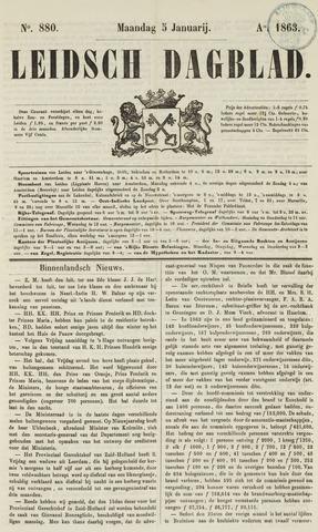 Leidsch Dagblad 1863-01-05