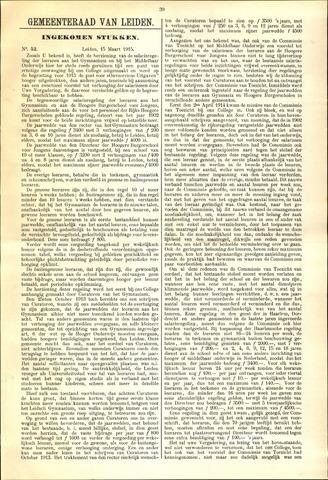 Handelingen van de Raad 1915-03-15