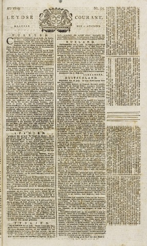 Leydse Courant 1819-08-09