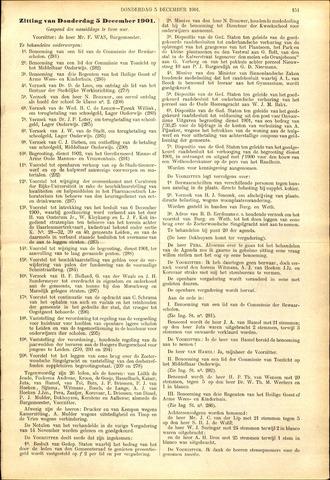 Handelingen van de Raad 1901-12-05