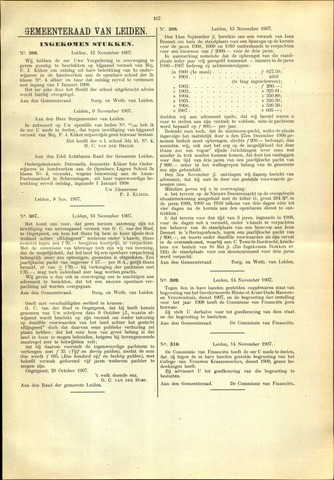 Handelingen van de Raad 1907-11-12