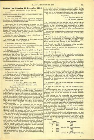 Handelingen van de Raad 1931-12-29