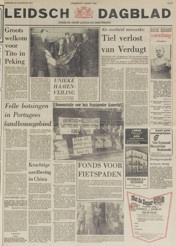 Leidsch Dagblad 1977-08-30