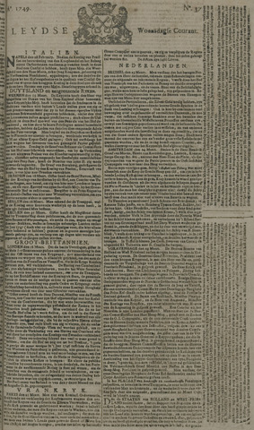 Leydse Courant 1749-03-26