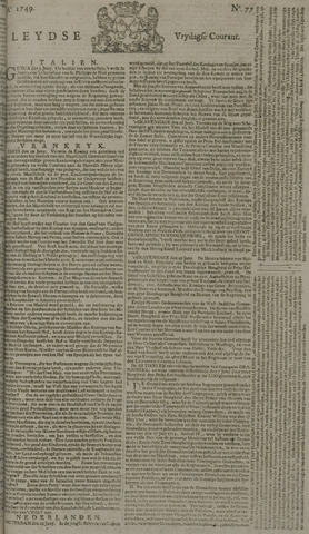 Leydse Courant 1749-06-27